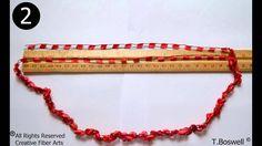 How To Crochet A Ladder Yarn Necklace w/ Creativefiberarts.com --- beautiful