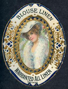 Antique Embossed Fabric Label 5082 | eBay