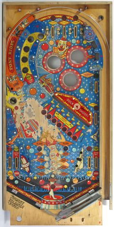 70s pinball  cool vintage design pinball art by BomDesignFurniture