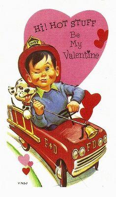 For my guy ♡ Valentine Images, Vintage Valentine Cards, Vintage Greeting Cards, Vintage Holiday, Valentine Day Cards, Be My Valentine, Victorian Valentines, Valentine Wreath, Firefighter Family