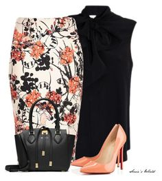 A fashion look from May 2016 featuring Moschino blouses, Christian Louboutin pumps and Michael Kors tote bags. Browse and shop related looks. Fashion Mode, Office Fashion, Work Fashion, Womens Fashion, Fashion Trends, Fashion News, Spring Fashion, Mode Chic, Mode Style