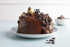 Glutenfri sjokoladekake med gravemaskin