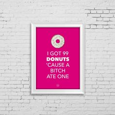 99 Donuts Print by mami