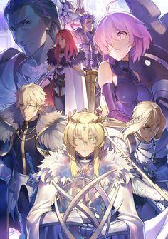 King Arturia • Bedevere • Lancelot • Mordred • Mash • Gawain • Tristán • Percebal
