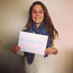 Pour #LaGrandeMosaïque Journée Bleue un #selfie d'Amandine de la team @hoptoys_fr #journeebleue #autisme