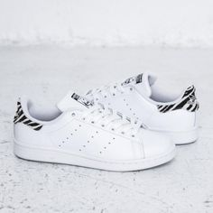 adidas originals stan smith black animal print trainers