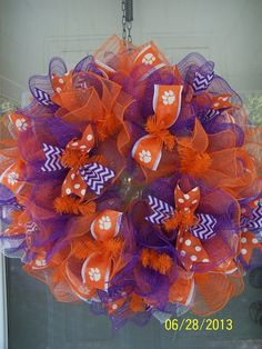 Clemson Tigers by Barbarasdoordecors on Etsy, $75.00