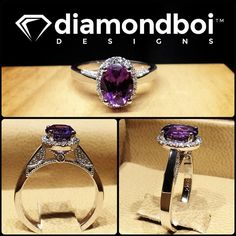 This design was made with oval cut Amythyst gemstone. The Amythyst was placed in…