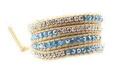 Turquoise Gemstone Beaded Wrap Bracelet