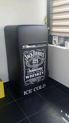 "koelkast,mat zwart""Jack Daniels"""