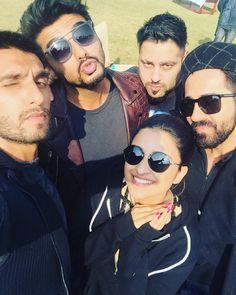 Parineeti Chopra with Ranveer Singh, Arjun Kapoor, Ayushmann Khurrana and rapper…