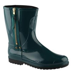 ALDO...my comfy rainboots The color is such a statement esp with jeans and a cute top.