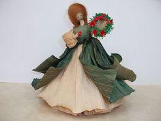 cornhusk doll with wreath