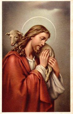 The Good Shepherd with one of us in His loving arms Jesus Pastor, Jesus Our Savior, Jesus Is Lord, Spiritual Images, Religious Images, Christ The Good Shepherd, Jesus Reyes, Pictures Of Jesus Christ, Vintage Holy Cards