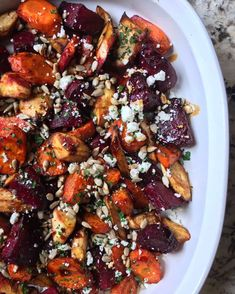 Balsamic & Feta Roasted Winter Veggies  Dinner, Gluten Free, Kid Friendly, Recipe, Vegetarian