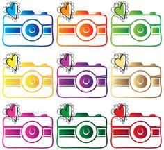 Digital Clip Art Photographer Logo Camera by MayPLDigitalArt, $7.20