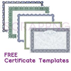 Certificate Template Eps  Certificate Templates