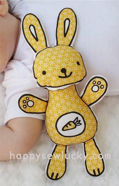 Happy Sew Lucky SNIFFY BUNNY kit von happysewluckyshop auf Etsy, $12.00