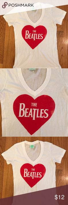 New Women's Love the Beatles Shirt Size M New, no tags. Women's Love the Beatles Shirt Size Medium. 100% Cotton. The Beatles Tops Tees - Short Sleeve
