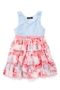 Zunie Floral Lace Dress (Toddler Girls)