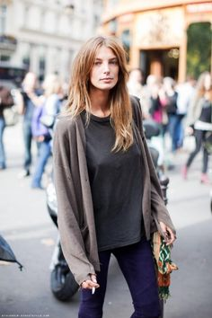 Being casual in Paris, Daria Werbowy.