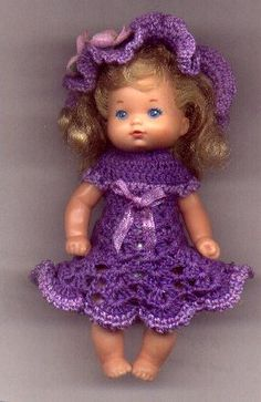 LOVELY IN LAVENDER... free pattern for Kelly (4-4.5 in) Doll