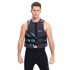 Yon Sub Adults Black Blue B... Life Jackets, Windsurfing, Rowing, Water Sports, Body Measurements, Wetsuit, Abs, Take That, Boat