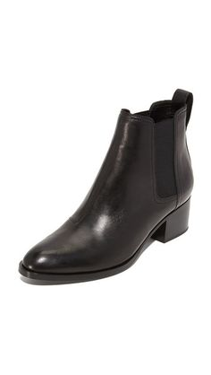 Rag & Bone Walker Booties black leather $332.50 ($475) | Shopbop
