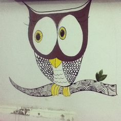 """Owlways looking over... #beautiful #office #artwork #owl #eyes #streetart #urbanart #painting #art #hoozinc #whatwedo"" Photo taken by @hoozinc on Instagram, pinned via the InstaPin iOS App! http://www.instapinapp.com (06/23/2015)"