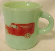 Jade Jadite Jadeite Milk Green Glass Coffee Mug w/ Gordons Fresh Foods