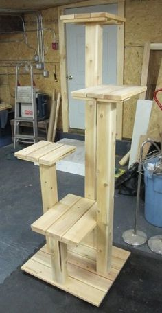 Custom Cedar and Cypress Cat Tree for Custom Vision Home Repair & Remodeling to build for Senior Kittizens. #CatFurniture