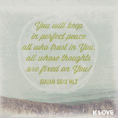 Thanks you for your perfect peace Lord.