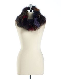 Luxurious fox fur infinity scarf lord amp taylor 225