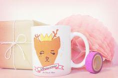 Mug Renne princesse - Un peu, beaucoup à la folie...Je suis une princesse : Vaisselle, verres par mcp-les-crea-de-marie