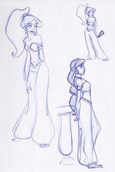 Jasmine Sketchbook Montage 3 by *kuabci on deviantART
