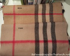 Difference Between Real Burberry Cashemere Scarf & a Fake Burberry Scarf
