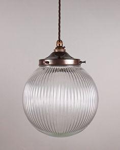 Art Deco Lighting, Goodrich Prismatic Globe Pendant Light