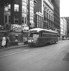 Vintage Johnstown: Trolley we used to ride from down the street from our house to the downtown to shop then back again. Wish they were still in use!!