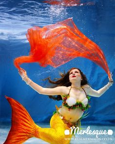Merlesque Real Mermaids – UK professional mermaid performers. Our mermaids perform underwater & on land - everything from underwater modelling and swimming at aquariums, to cabaret and kids parties. Find out more at http://www.realmermaids.co.uk or follow at http://www.facebook.com/RealMermaidsUK  #Merlesque #mermaid #realmermaid #realmermaiduk #UK #sirens #underwater #fantasy #swimming #water #sea #ocean #model #modelling #costume #cosplay #entertainer #professional #England #photography #magic