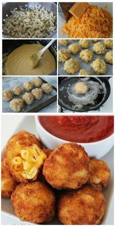 Fried Macaroni and Cheese Bites   Bake a Bite