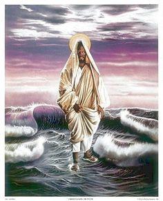Christ Walking The Water - 25x21 print - Allen & Aaron Hicks