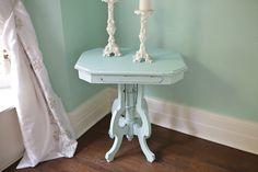 aqua+shabby+chic+table+antique+victorian+by+VintageChicFurniture,+$245.00