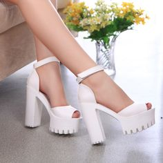 2016 New style high heels women sandals open toe sandals female thick heel platform  summer shoes big size 9-in Women's Sandals from Shoes on Aliexpress.com | Alibaba Group