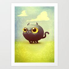 Bubblecat Art Print by SUIamena - $15.00
