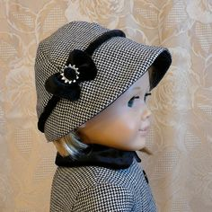 American Girl 18 inch doll clothes Wool coat and hat by Calyxadollcreations on Etsy