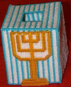 Menorah Tissue box cover