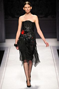 Alberta Ferretti Fall 2012 collection. This Dress! The craftsmanship with the colors and silhouette! Badass AND Romantic! LOVE!