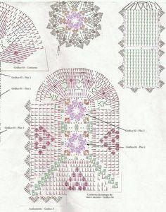 Gráfico de Juego de baño blanco y rosa