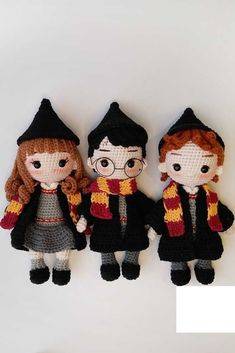 Amigurumi: What is it? Meaning, How To Step By Step And Photos – Amigurumi Chapeau Harry Potter, Harry Potter Dolls, Harry Potter Free, Harry Potter Crochet, Crochet Patterns Amigurumi, Amigurumi Doll, Crochet Dolls, How To Start Knitting, Expo