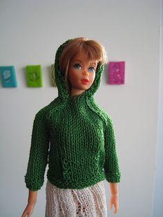 Barbie Doll Hoodie, Kangaroo Jacket by Kelly Mullan